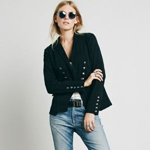 Free People Structured Washed Military Blazer